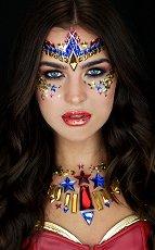 Стикери за тяло и лице - Жената чудо - Комплект парти аксесоари -