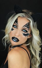 Стикери за тяло и лице - Жената-котка - Комплект парти аксесоари -