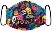 Детска предпазна маска за многократна употреба - Графити