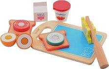 Време за закуска - Дървен комплект за игра -