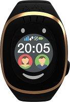 Детски GPS и GSM смарт часовник с тъч скрийн - MyKi Touch Black - Работещ със SIM карти на всички български мобилни оператори