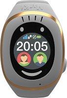 Детски GPS и GSM смарт часовник с тъч скрийн - MyKi Touch White
