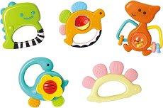 Дъвкалки - Динозаври - Комплект от 5 броя за бебета над 3 месеца -