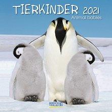 Стенен календар - Tierkinder 2021 -