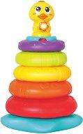Пате с рингове за нанизване - Детска играчка със светлинни и звукови ефекти -
