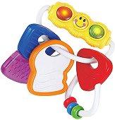 Ключове - Бебешка играчка със светлинни и звукови ефекти - детска бутилка