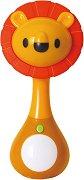 Дрънкалка - Лъв - Бебешка играчка със светлинни и звукови ефекти -
