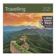 Стенен календар - Travelling 2021 -