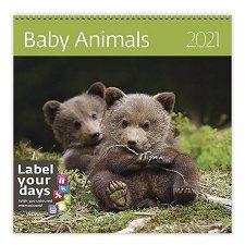 Стенен календар - Baby Animals 2021 -