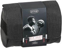 Подаръчен комплект за мъже - STR8 Red Code - Мъжки парфюм, дезодорант и несесер -