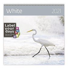 Стенен календар - White 2021 -