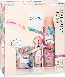 Подаръчен комплект - C-Thru Harmony Bliss - Дамски парфюм, дезодорант и ароматна свещ - шампоан