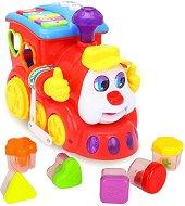 Сортер - Локомотив - Детска образователна играчка за сортиране : със светлинни и звукови ефекти -