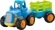 Трактор с ремарке - играчка