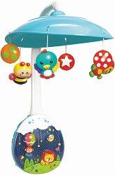Музикален проектор-въртележка - Сладки животни - Играчка за бебешко креватче -