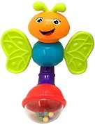 Дрънкалка - Пеперуда - Бебешка играчка със светлинни и звукови ефекти -