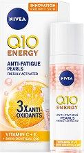"""Nivea Q10 Energy Anti-Fatigue Pearls - Енергизиращи серумни перли за сияйна кожа от серията """"Q10 Energy"""" - продукт"""