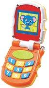 Телефон със звукови и светлинни ефекти - Детска интерактивна играчка -