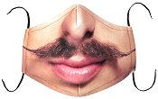 Универсална трислойна маска за многократна употреба - Мустаци - Комплект с филтър
