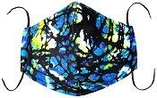 Универсална трислойна маска за многократна употреба - Абстракт - Комплект с филтър