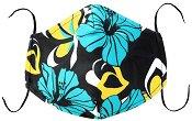 Универсална трислойна маска за многократна употреба - Хибискус - Комплект с филтър