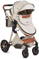 Комбинирана бебешка количка - Alma - С 4 колела -