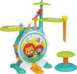 Комплект музикални инструменти и столче - Детски играчки -