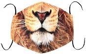 Универсална трислойна маска за многократна употреба - Лъвска муцуна - Комплект с филтър
