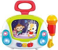 Караоке с микрофон - Комплект детски музикални инструменти -