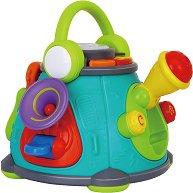 Музикален център с караоке - Детска играчка със светлинни и звукови ефекти - играчка