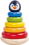 Низанка - Пингвинче - Детска дървена играчка -