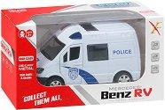 Полицейски бус - Метална количка с pull-back механизъм, светлинни и звукови ефекти -