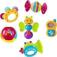 Дрънкалки - Комплект от 6 играчки -