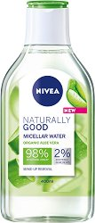 Nivea Naturally Good Organic Aloe Vera Micellar Water - Мицеларна вода с био алое вера - душ гел