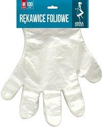 Полиетиленови ръкавици за еднократна употреба - Опаковка от 100 броя - размери M и L - продукт