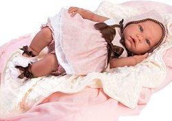 Кукла бебе Тамара : Лимитирана серия - Комплект с одеяло и пелена - кукла