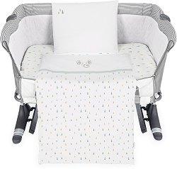 Бебешки спален комплект от 5 части - Elephant Time - 100% ранфорс за матраци с размери 50 x 50 cm и 50 х 85 cm -