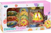 Сервиз за чай - Плодчета - Детски метален комплект за игра - играчка