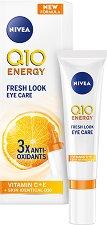 """Nivea Q10 Energy Fresh Look Eye Care - Енергизиращ околоочен крем от серията """"Q10 Energy"""" - душ гел"""