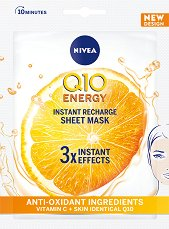 Nivea Q10 Energy Instant Recharge Sheet Mask - крем