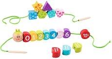 Гъсеница - Детски дървени играчки за нанизване -