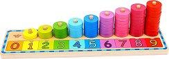 Научи се да броиш - Дървен образователен комплект -