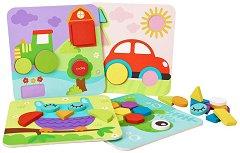 Mозайка - Форми и цветове - Дървена образователна играчка - творчески комплект