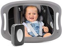 Огледало за задна седалка със светлини - Baby View LED - Аксесоар за автомобил с дистанционно управление -