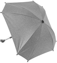 Чадър с UV защита - Shine Safe Grey - Аксесоар за детска количка -