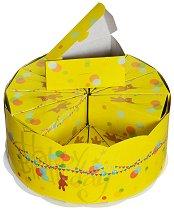 Картонена торта - Мечета - Комплект от 24 парчета и подложка -