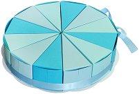 Картонена торта - Комплект от 12 парчета -