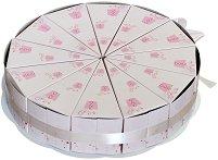 Картонена торта - Подаръци - Комплект от 12 парчета -