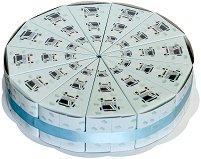 Картонена торта - Камиончета - Комплект от 12 парчета -