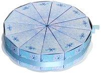 Картонена торта - Магическа зима - Комплект от 12 парчета -